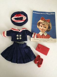 Vintage Penny Brite Anchors Aweigh Outfit Fits Susie Sad Eyes Sailor