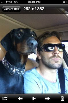 Henrik Lundqvist and his dog, Nova. Even his dog is cute!