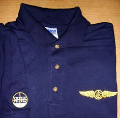 NHHS SHIRT w/ EMBROIDERED NHHS CREST on the left side and AIR CREW WINGS on right side of shirt. Embroidery Services, Wings, Company Logo, Jackets, Shirts, Fashion, Down Jackets, Moda, Fashion Styles