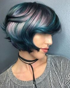 Teal Color Melt - The Best Jewel Tone Hair on Pinterest  - Photos