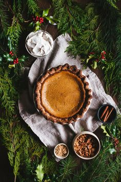 Brown Butter Pumpkin Pie with a Pecan Crust and Brown Butter Chantilly —