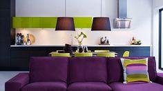 Déco violet et vert