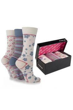 Firetrap Flowers Stripes and Squares Socks In Gift Box  £9.00