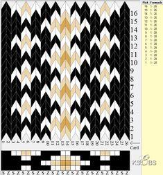 To brikkevevde hårvipper, litt uvanlige mønster og farger... Inkle Weaving, Inkle Loom, Card Weaving, Weaving Art, Tablet Weaving Patterns, Bead Loom Patterns, Iris Folding Pattern, Weaving Projects, Tatting Lace