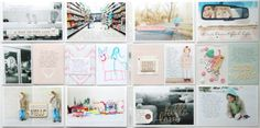 Loving how she added text to almost all the photos. Project Life: February 2014 by stephaniebryan at @Studio_Calico