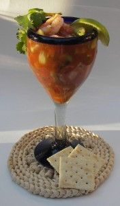 Shrimp Cocktail - Baja Style I created the taste of a shrimp cocktail at a favorite Mexican Restaurant! My Bunco Group Loves It!!!! Simple and unforgettable!