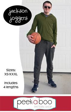 Jackson Joggers for Men PDF Sewing Pattern Mens Sewing Patterns, Sewing Men, Wish You The Best, As You Like, Mens Joggers, Pants Pattern, Sell Items, Photo Tutorial, Mini Me