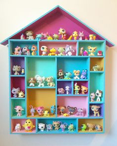 42 Best Ideas For Kids Room Organization Ideas Organizing Toys Diy Crafts Littlest Pet Shops, Diy And Crafts, Crafts For Kids, House Shelves, Kids Room Organization, Organizing Toys, Toy Rooms, Little Girl Rooms, Toy Storage