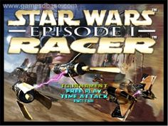 Title screen of Star Wars: Episode I - Racer on the Nintendo N64.