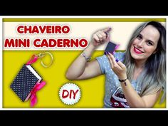 DIY: Chaveiro Mini Caderno - YouTube