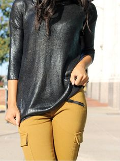 Foiled Pullover & Brix Pants (http://www.swankboutiqueonline.com/the-brix/)
