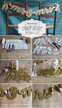 {DIY} Wedding Chair Decor | The Pretty Pear Bride