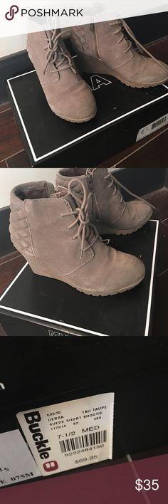 Heeled ankle boots Heeled ankle boots gently worn, no fading smudges or scuffs MIA Shoes Heeled Boots