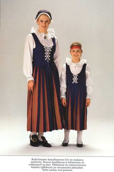 Keskisuomi, Finland Folk Costume, Costumes, Mother And Father, Mothers Love, Beautiful Outfits, Embellishments, Child, Clothes, Embroidery
