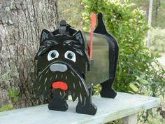 Scottie Dog Mailbox Scottish Terrier Dogs Mailboxes   eBay