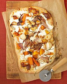 Roasted Fall Vegetable and Ricotta Pizza.