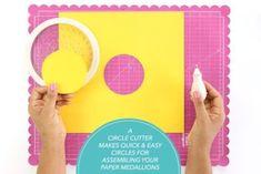 93addfb361 DIY Summer Fruit Paper Rosettes