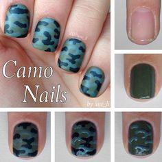 Camo nail art inspiration