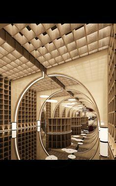 TSG-4000|空间|室内设计|MYSpaceDesign - 原创作品 - 站酷 (ZCOOL) Spa Interior, Interior Design, Japanese Restaurant Interior, Atrium Design, Feature Wall Design, Hotel Lobby Design, Ceiling Light Design, Naval, Model Homes