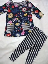 Mini Boden  hedgehog ,Winter woodland tunic and matching  leggings age 4-5 vgc