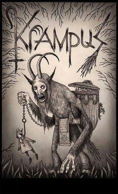 John kenn - Illustration - Monster - Image of Krampus Arte Horror, Horror Art, Creepy Art, Scary, Don Kenn, Illustrations, Illustration Art, Der Joker, Monster Drawing