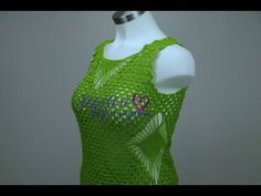 "Blusa Verde Limon Talla XXL 42"" de Busto - YouTube Crochet Videos, Crochet Stitches, Crochet Top, Facebook, Tops, Dresses, Barbie, Youtube, Fashion"