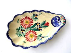 Vintage Quimper Dish, French Breton Plate, French Faience Soap Dish, Brittany…