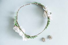 Floral headpieces and flower crowns for brides & more! Floral Headpiece, July 4th, Flower Crown, Sage, Brides, Etsy Seller, Simple, Creative, Green