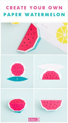 Craft Idea: Create your own paper watermelon fruit decoration for your next party with this simple downloadable template
