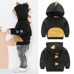 Baby-Kids-Girls-Boys-Dinosaur-Hooded-Jacket-Tops-Sweater-Hoodies-Casual-Clothing