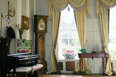 A formal living room in Byfleet Manor, the Dowager Countess' House from Downton Abbey