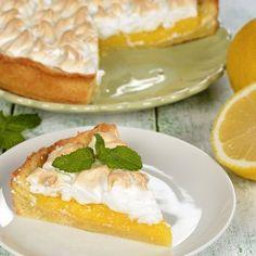 Tarta de limón con merengue