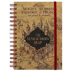 "Pyramid International A5 Harry Potter ""The Marauders Map"" Notebook ($9.59) ❤ liked on Polyvore featuring home, home decor, stationery and harry potter"