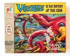 Voyage to the Bottom of the Sea Card Game Milton Bradley Vintage Rare 1964