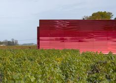 château la dominique winery exention by ateliers jean nouvel