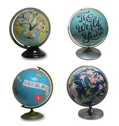 Custom vintage globes by Wendy Gold. Absolutely adore her work.
