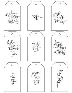 Printable Christmas Gift Tags make holiday wrapping simple!