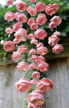 Pink Wind Chime Nothing says summer more than roses and wind chimes