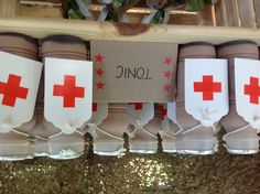 Tonic (chocolate milk) at medic station at army party