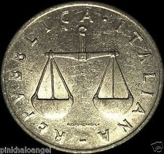 Republic of Italy -  Italian 1954 1,2,5 and 10 Lire Coins - Great Coin http://spain-travel-now.info/sn/re/?query=141810966389 …