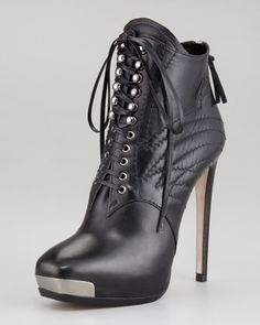 Miu Miu- These are the sexiest lace-up metal-toe booties I have ever seen.