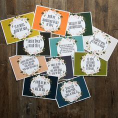 See the Magnolia Market page for some ideas on how to use these cute cards! Magnolia Market, Fixer Upper, Chip and Joanna Gaines, HGTV Magnolia Market, Magnolia Store, Chip And Joanna Gaines, Love Is Patient, Sign Quotes, Bible Verses, Scriptures, Gift Guide, Wooden Signs