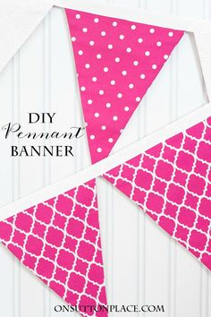 pennant banners on pinterest bunting template fabric bunting and pennant template. Black Bedroom Furniture Sets. Home Design Ideas