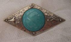 VINTAGE 1900'S ARTS & CRAFTS PEWTER RUSKIN SIGNED PLANTAGENET BROOCH PIN. . | eBay