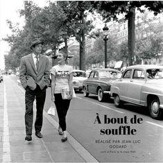 mon poster/my poster A bout de souffle est un film français, emblématique de la Nouvelle Vague, réalisé par Jean-Luc Godard.
