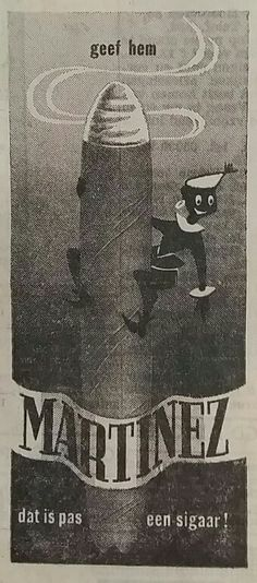 MARINEZ sigaren Advertentie 1959