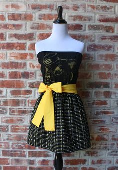 "Baylor Bears ""Sailor Bear"" Game Day Strapless Dress"