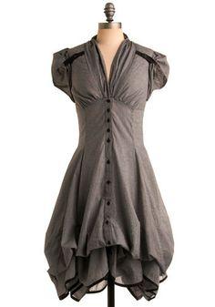 Studio Sweatheart Dress - adjustable hemline! Can hang strait too!