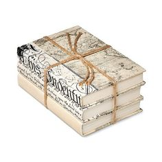 Ivory Mix Decorative Book Set of , Dark Off-White ($40) ❤ liked on Polyvore featuring home, home decor, books, inspirational home decor and black and white home decor