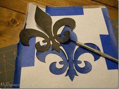 Using ScotchBlue Painter's Tape to Make a Stencil